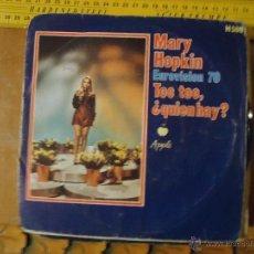 Discos de vinilo: PEQUEÑO DISCO SINGLE - MARY HOPKIN EUROVISION 70. Lote 54256106