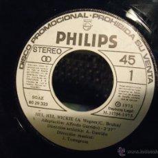 Discos de vinilo: PEQUEÑO DISCO SINGLE SIN CARATULA , SOLO EL DISCO - WICKIE HEI HEI HEI EL VIKINGO 1975. Lote 54256693