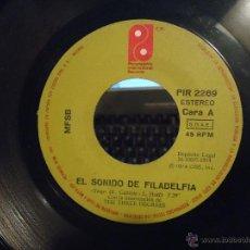 Discos de vinilo: PEQUEÑO DISCO SINGLE SIN CARATULA ,EL SOLNIDO DE FILADELFIA - ALGO POR NADA - PHILADELPHIA INTERNATI. Lote 54256722