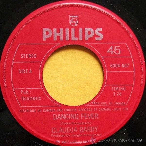 CLAUDJA BARRY - DANCING FEVER / SUMMERTIME (Música - Discos - Singles Vinilo - Funk, Soul y Black Music)