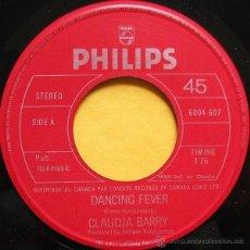 Discos de vinilo: CLAUDJA BARRY - DANCING FEVER / SUMMERTIME. Lote 54264432