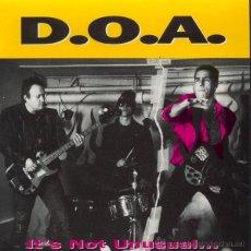 Discos de vinilo: D.O.A. - IT'S NOT UNUSUAL... BUT IT SURE IS UGLY! . Lote 54264903