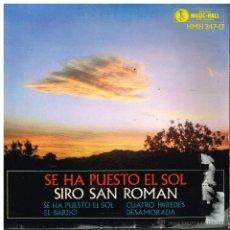 Discos de vinilo: SIRO SAN ROMÁN - SE HA PUESTO EL SOL / EL BARDO / CUATRO PAREDES / DESAMORADA - EP 1963. Lote 54268035
