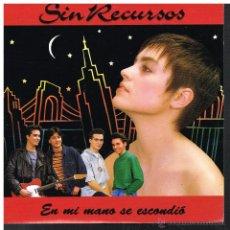 Discos de vinilo: SIN RECURSOS - EN MI MANO SE ESCONDIÓ - SINGLE 1991 - PROMO - COMO NUEVO. Lote 54268967