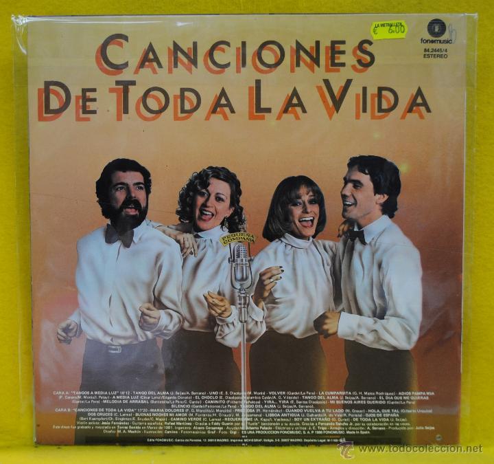 Discos de vinilo: PEQUEA COMPAIA - TANGOS A MEDIA LUZ - LP - Foto 2 - 54277775