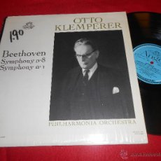 Discos de vinilo: OTTO KLEMPERER PHILHARMONIA BEETHOVEN SYMPHONY 8+1 LP ANGEL 35657 CANADA. Lote 54277973