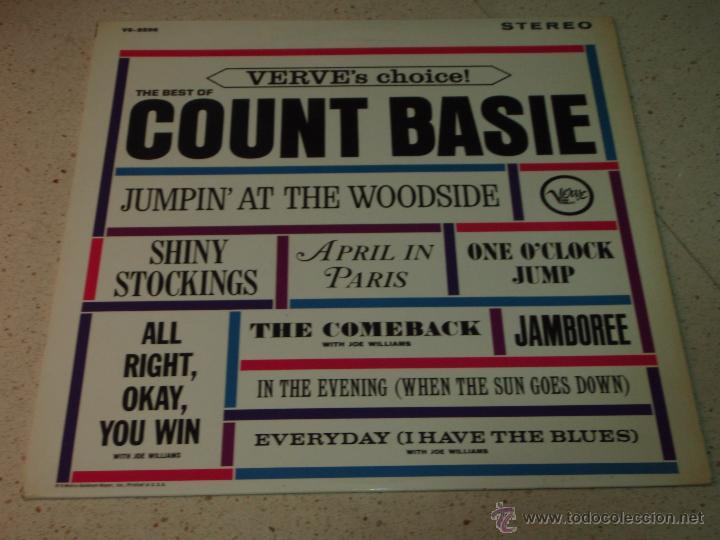 COUNT BASIE ( THE BEST OF COUNT BASIE ) USA LP33 VERVE RECORDS (Música - Discos - LP Vinilo - Jazz, Jazz-Rock, Blues y R&B)
