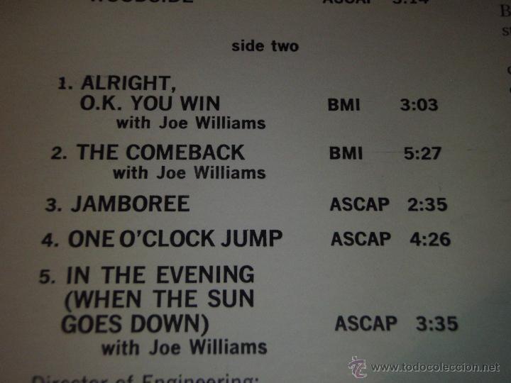 Discos de vinilo: COUNT BASIE ( THE BEST OF COUNT BASIE ) USA LP33 VERVE RECORDS - Foto 3 - 54291202