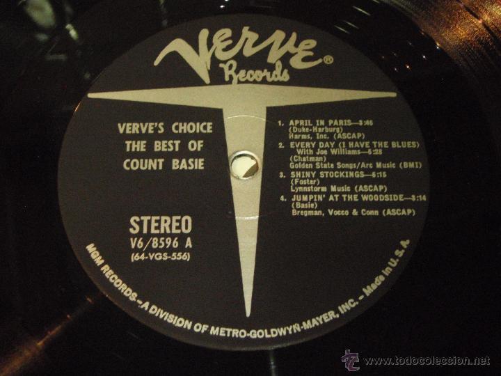 Discos de vinilo: COUNT BASIE ( THE BEST OF COUNT BASIE ) USA LP33 VERVE RECORDS - Foto 4 - 54291202