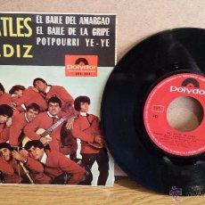 Discos de vinilo: LOS BEATLES DE CÁDIZ. EL BAILE DEL AMARGAO. EP / POLYDOR - 1965 / CALIDAD NORMAL. **/**. Lote 54292005