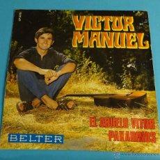 Discos de vinilo: VICTOR MAUEL. EL ABUELO VICTOR. PAXARINOS. BELTER. Lote 54297393