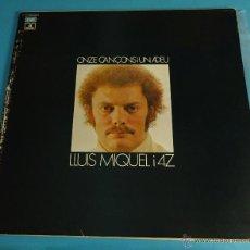 Discos de vinilo: LLUIS MIQUEL I 4Z. ONZE CANÇONS I UN ADEU. Lote 54298853