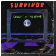Discos de vinilo: SURVIVOR - CAUGHT IN THE GAME - SINGLE 1983. Lote 54305252