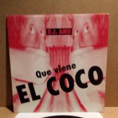 Discos de vinilo: D.J. AMU. QUE VIENE EL COCO. MAXI SINGLE / BUS - 1994. BUENA CALIDAD. ***/***. Lote 54305894