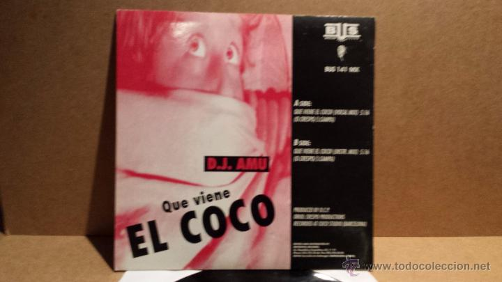 Discos de vinilo: D.J. AMU. QUE VIENE EL COCO. MAXI SINGLE / BUS - 1994. BUENA CALIDAD. ***/*** - Foto 2 - 54305894