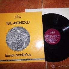Discos de vinilo: TETE MONTOLIU TEMAS BRASILEÑOS LP VINILO 1974 HECHO EN ESPAÑA CONTIENE 13 TEMAS . Lote 54306774