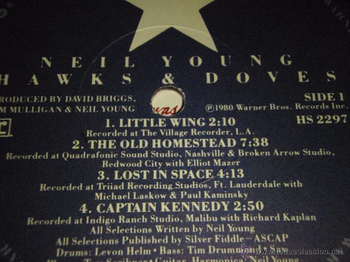 Discos de vinilo: NEIL YOUNG ( HAWKS & DOVES ) USA - 1980 LP33 WARNER BROS RECORDS - Foto 4 - 947701