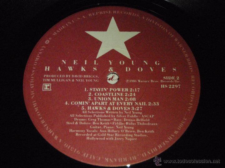 Discos de vinilo: NEIL YOUNG ( HAWKS & DOVES ) USA - 1980 LP33 WARNER BROS RECORDS - Foto 6 - 947701