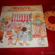 Discos de vinilo: MARISOL ESTANDO CONTIGO/TOMBOLA 7 SINGLE 1972 ZAFIRO SERIE GUIÑOL VINILO ROJO. Lote 54311024