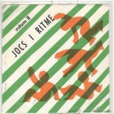 Discos de vinilo: JOCS I RITME VOLUM II. NOMÉS FUNDA. Lote 54313818