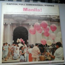 Discos de vinilo: MANILA!.MUSIC OF THE PHILIPPINES.LP.FEAT:ROQUE SISTERS,BETTY RIVERA...CAPITOL ST10275.BEAT FILIPINO.. Lote 54314060