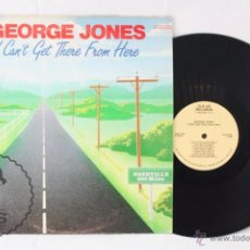 Discos de vinilo: DISCO LP VINILO - GEORGE JONES. I CAN'T GET THERE FROM HERE - CLE-O RECORDS, AÑO 1982. Lote 54314261