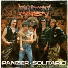 Discos de vinilo: PANZER – PANZER / SOLITARIO - SG PROMO SPAIN 1982 - CHAPA DISCOS H-33074. Lote 54314836