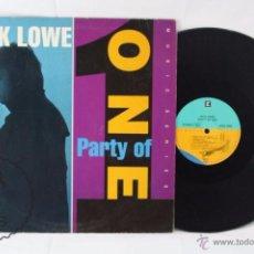 Discos de vinilo: DISCO LP VINILO - NICK LOWE. PARTY OF ONE - REPRISE RECORDS, AÑO 1990. Lote 54315915