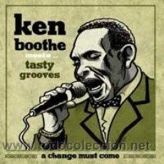 Discos de vinilo: KEN BOOTHE MEETS TASTY GROOVES - A CHANGE MUST COME (PRECINTADO). Lote 54318605
