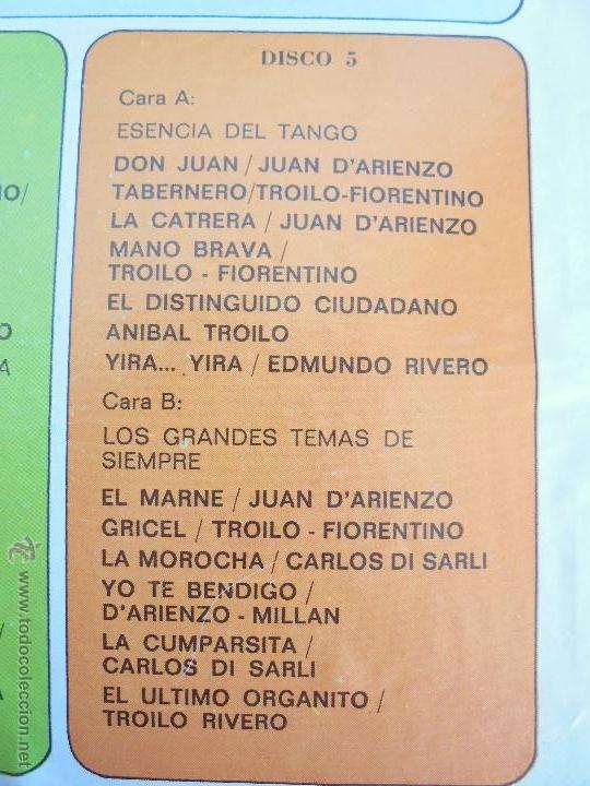 Discos de vinilo: ALMA DE BANDONEON. ANTOLOGIA DEL TANGO. 5 DISCOS. VER FOTOGRAFIAS ADJUNTAS. - Foto 6 - 54319355