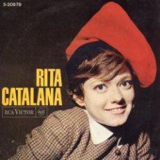 Discos de vinil: RITA PAVONE - CATALANA, EP, NOMES TU + 3, AÑO 1966. Lote 54320631