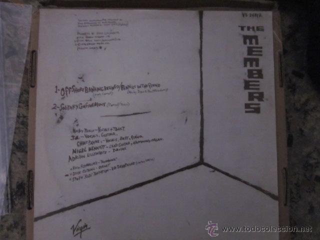 Discos de vinilo: THE MEMBERS - OFFSHORE BANKING BUSINESS - MAXI - 3 TRACKS - EDICION INGLESA DEL AÑO 1979. - Foto 2 - 54321923