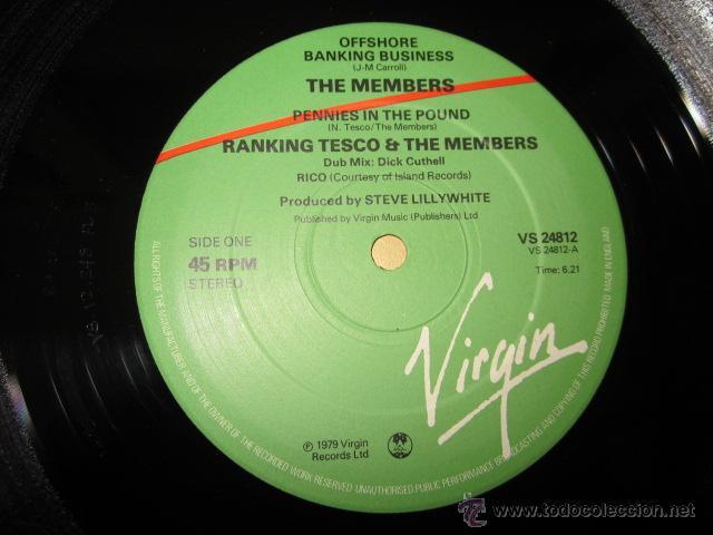 Discos de vinilo: THE MEMBERS - OFFSHORE BANKING BUSINESS - MAXI - 3 TRACKS - EDICION INGLESA DEL AÑO 1979. - Foto 3 - 54321923