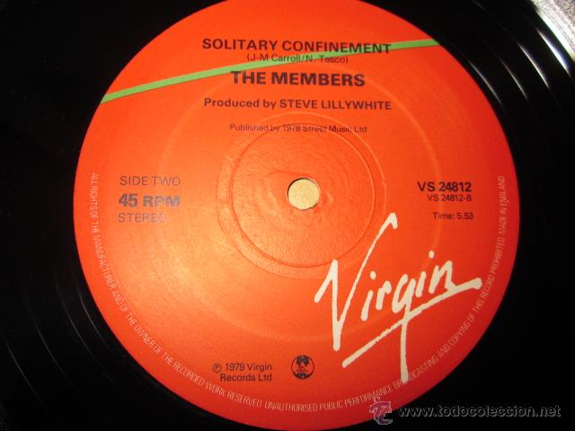 Discos de vinilo: THE MEMBERS - OFFSHORE BANKING BUSINESS - MAXI - 3 TRACKS - EDICION INGLESA DEL AÑO 1979. - Foto 4 - 54321923