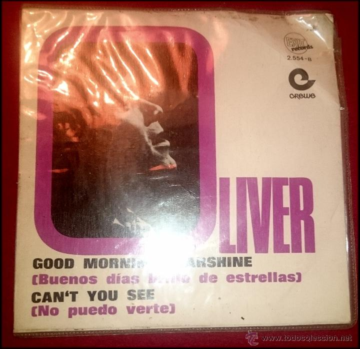 Discos de vinilo: OLIVER - GOOD MORNING STARSHINE - CANT YOU SEE - EXIT RECORDS - AÑO 1969 - Foto 2 - 54325452