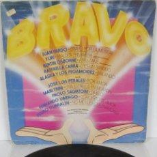 Discos de vinilo: BRAVO - LP - HISPAVOX 1982 SPAIN - MARI TRINI / RAFFAELLA CARRA / ALASKA Y LOS PEGAMOIDES. Lote 54326336