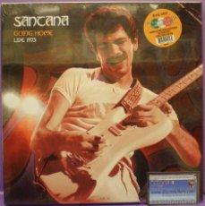 Discos de vinilo: SANTANA - GOING HOME (LIVE 1973) - 3 LPS BOX - UNOFFICIAL RELEASE. VINILOS DE COLORES - NUEVO. Lote 54327172