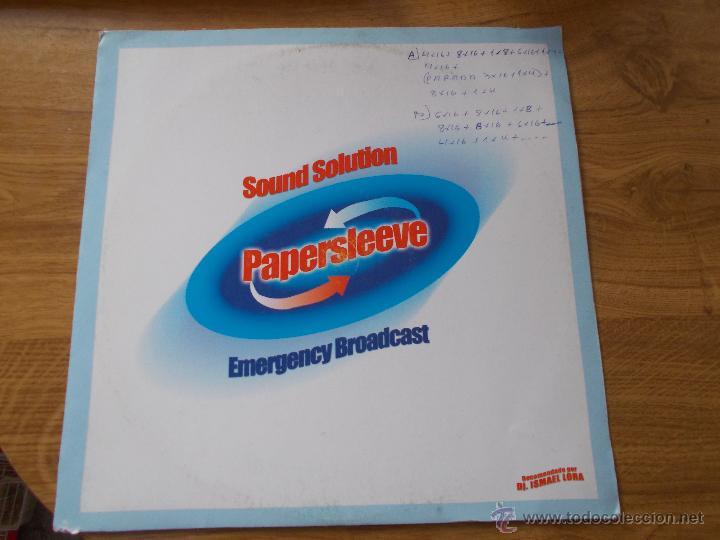 SOUND SOLUTION. PAPERSLEEVE. RECOMENDADO POR DJ. ISMAEL LORA (Música - Discos - LP Vinilo - Techno, Trance y House)