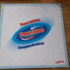 Discos de vinilo: SOUND SOLUTION. PAPERSLEEVE. RECOMENDADO POR DJ. ISMAEL LORA. Lote 54327244