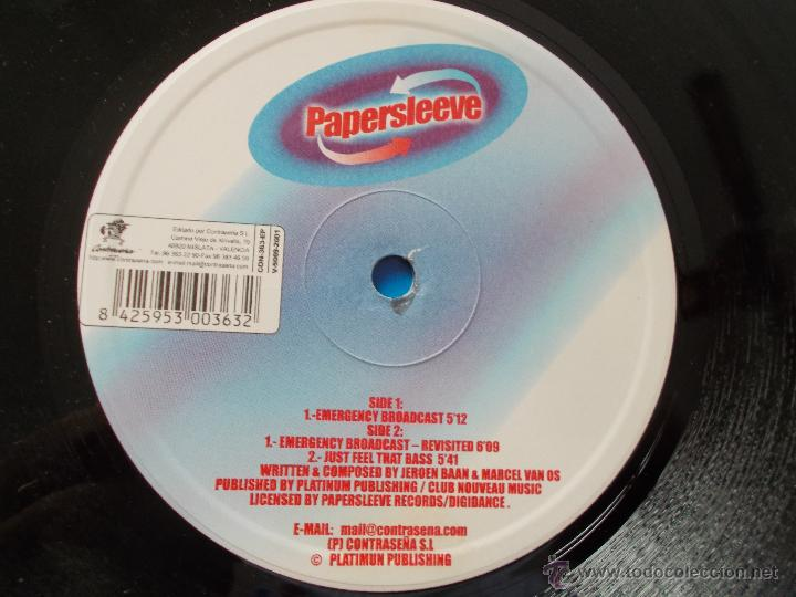 Discos de vinilo: SOUND SOLUTION. PAPERSLEEVE. RECOMENDADO POR DJ. ISMAEL LORA - Foto 2 - 54327244