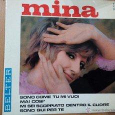 Discos de vinilo: MINA SONO COME TU MI VUOI EP SPAIN BELTER. Lote 54330611