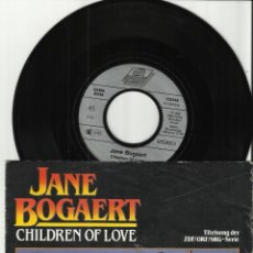 Discos de vinilo: JANE BOGAERT SINGLE CHILDREN OF LOVE.ALEMANIA 1989. Lote 54342666