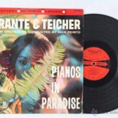 Discos de vinilo: DISCO LP VINILO - FERRANTE & TEICHER. PIANOS IN PARADISE - HISPAVOX, AÑO 1962. Lote 121090414