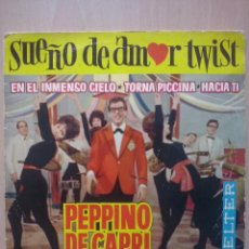 Discos de vinilo: PEPPINO DI CAPRI- SUEÑO DE AMOR TWIST +3- EP BELTER 1962. Lote 54345335