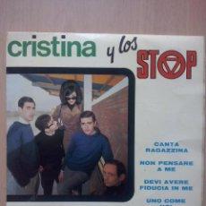Discos de vinilo: CRISTINA Y LOS STOP- CANTA RAGAZZINA +3- EP BELTER 1967. Lote 54345580
