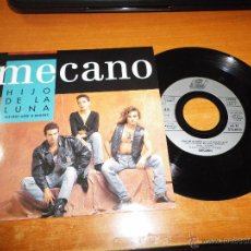 Discos de vinilo: MECANO DIS-MOI LUNE D´ARGENT / HIJO DE LA LUNA SINGLE VINILO EDITADO EN FRANCIA PORTADA UNICA RARO. Lote 39009144