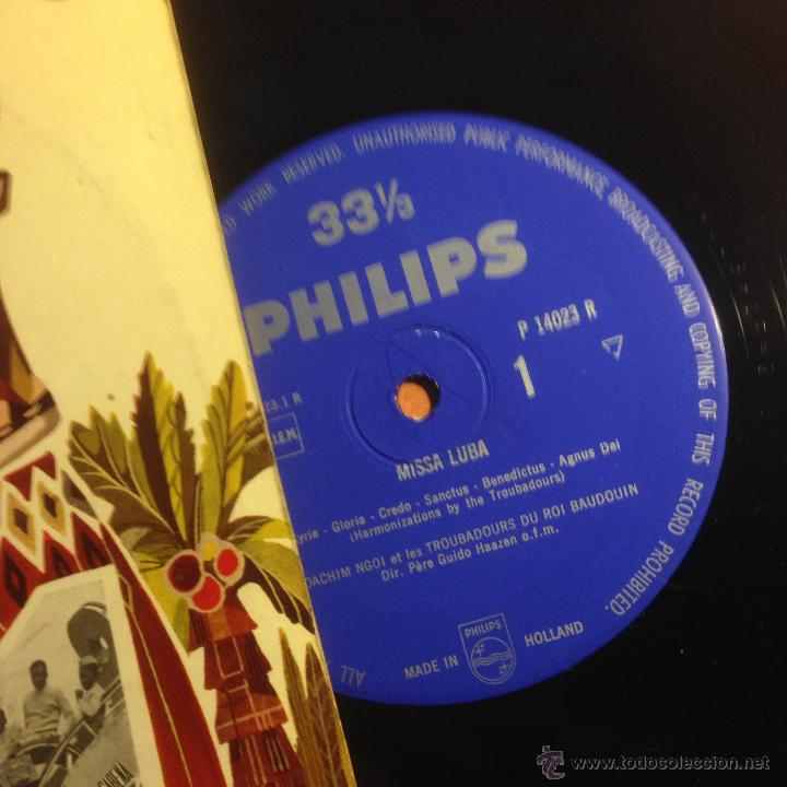Discos de vinilo: LES TROUBADOURS DU ROI BAUDOUIN (MISSA LUBA AND CHRISTMAS IN CONGO) LP 10 INCH HOLANDA (VIN22) - Foto 2 - 54356588