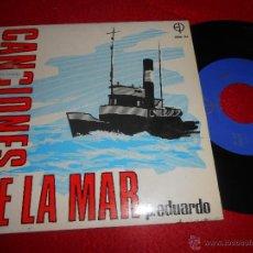 Discos de vinilo: P.EDUARDO&JAVIER ITURRALDE CANCIONES MAR.CON EL VIENTO EN LA PROA/PEQUEÑEZ ANTE EL MAR +2 EP 1971. Lote 54358748