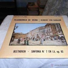 Discos de vinilo: FILARMONICA DE VIENA, HERBERT VON KARAJAN, SINFONIA DE BEETHOVEN Nº 7. Lote 54361941
