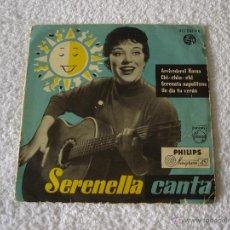 Discos de vinilo: SERENELLA CANTA: ARRIVEDERCI ROMA + 3, - EP. PHILIPS 1958. Lote 54367057
